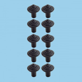 <PRE>Round Iron Cabinet Knob Black Fibonacci Design Cabinet Hardware Pack of 10</PRE>zoom2