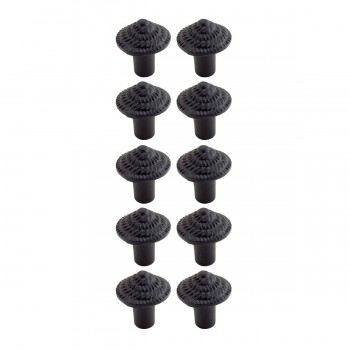 <PRE>Round Iron Cabinet Knob Black Fibonacci Design Cabinet Hardware Pack of 10</PRE>zoom1