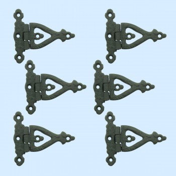 3 Inch Black Wrought Iron Door Hinge Strap RSF Finish Barn Door Hinges Pack of 6 wrought iron door hinges Barn Door Hardware Strap Hinge