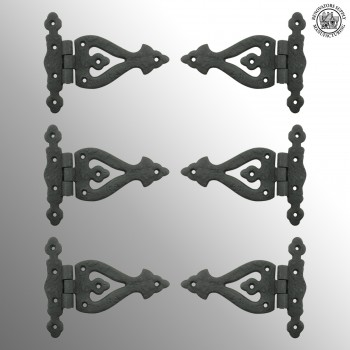 5 Inch Black Wrought Iron Door Hinge RSF Finish Barn Door Hinges Pack of 6 wrought iron door hinges Barn Door Hinges Strap Hinge