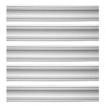 Renovators Supply Cornice White Urethane Parisian Design 5 Pieces Totaling 475 Length White PrePrimed Urethane Crown Cornice Molding Cornice Crown Home Depot Ekena Millwork Molding Wall Ceiling Corner Cornice Crown Cove Molding