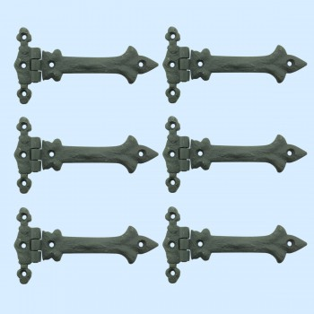 <PRE>5 Inch Black Wrought Iron Cabinet Hinge Strap Southern Charm Barn Pack of 6</PRE>zoom2