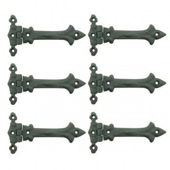 <PRE>5 Inch Black Wrought Iron Cabinet Hinge Strap Southern Charm Barn Pack of 6</PRE>zoom1