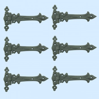 <PRE>7 Inch Wrought Iron Strap Hinge Southern Charm RSF Resistant Barn Pack of 6</PRE>zoom2