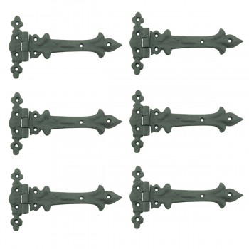 <PRE>7 Inch Wrought Iron Strap Hinge Southern Charm RSF Resistant Barn Pack of 6</PRE>zoom1