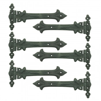 9 Inch Wrought Iron Strap Hinge Southern Charm Rust Resistant Barn Pack of 6
