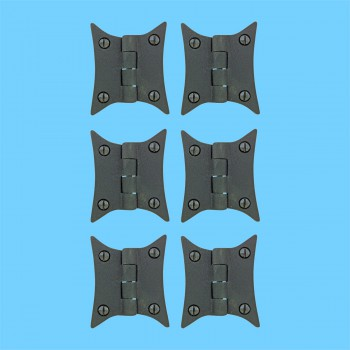 <PRE>Cast Iron Butterfly Cabinet Hinge 3 3/8&quot; H Pack of 6</PRE>