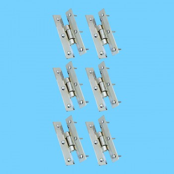 <PRE>3inch Chrome Flush Cabinet H Hinge Pack of 6 </PRE>zoom2