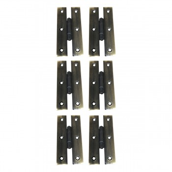 Oil Rubbed Bronze Cabinet Flush H Hinge 3 Inches Pack of 6 52213grid