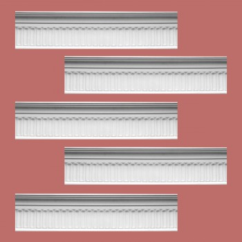 Renovators Supply Ornate Cornice White Urethane Sommet Design 5 Pieces Totaling 414.375 Length White PrePrimed Urethane Crown Cornice Molding Cornice Crown Home Depot Ekena Millwork Molding Wall Ceiling Corner Cornice Crown Cove Molding