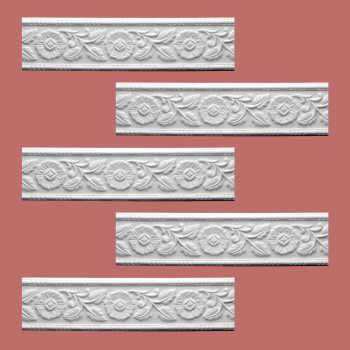 <PRE>Renovator's Supply Cornice White Urethane Leaf Design 5 Pieces Totaling 470inch Length</PRE>zoom2