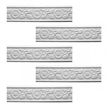 <PRE>Renovator's Supply Cornice White Urethane Leaf Design 5 Pieces Totaling 470inch Length</PRE>zoom1