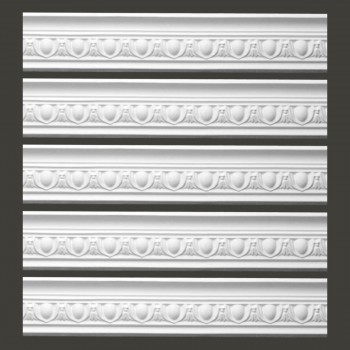 <PRE>Renovator's Supply Ornate White Urethane Foam Emperial Cornice  5 Pieces Totaling 473.125inch Length</PRE>zoom2