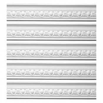 <PRE>Renovator's Supply Ornate White Urethane Foam Emperial Cornice  5 Pieces Totaling 473.125inch Length</PRE>zoom1