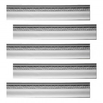 Renovators Supply Cornice White Urethane Toqueville Ornate Design 5 Pieces Totaling 396.875 Length White PrePrimed Urethane Crown Cornice Molding Cornice Crown Home Depot Ekena Millwork Molding Wall Ceiling Corner Cornice Crown Cove Molding