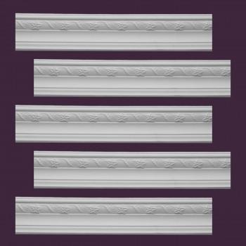 <PRE>Renovator's Supply  Ornate Cornice White Urethane Design 5 Pieces Totaling 471.875inch Length</PRE>zoom2