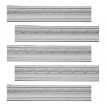 <PRE>Renovator's Supply  Ornate Cornice White Urethane Design 5 Pieces Totaling 471.875inch Length</PRE>zoom1