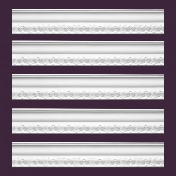 <PRE>Renovator's Supply Ornate Cornice White Urethane Melville Design 5 Pieces Totaling 475inch Length</PRE>zoom2