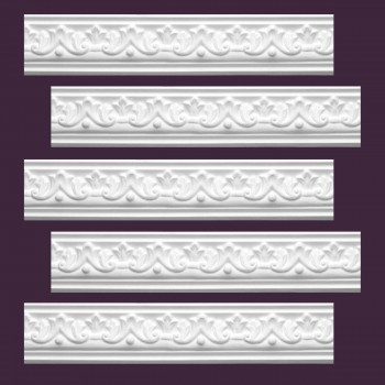 <PRE>Renovator's Supply  Ornate Cornice White Urethane Design 5 Pieces Totaling 475inch Length</PRE>zoom2