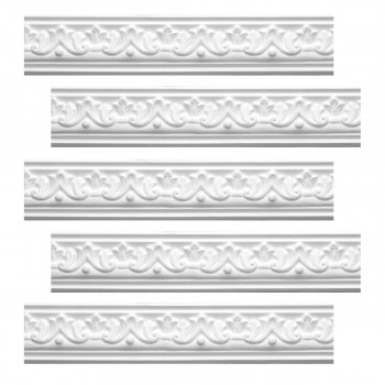 <PRE>Renovator's Supply  Ornate Cornice White Urethane Design 5 Pieces Totaling 475inch Length</PRE>zoom1