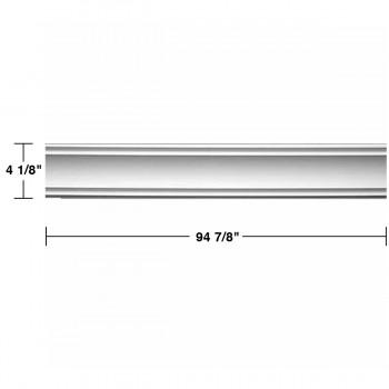 "spec-<PRE>Renovator's Supply Cornice White Urethane Jackson Simple Design 5 Pieces Totaling 470"" Length</PRE>"