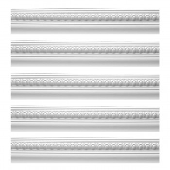<PRE>Renovator's Supply Cornice White Urethane Jefferson Ornate Design 5 Pieces Totaling 473.75inch Length</PRE>zoom1