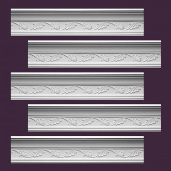 <PRE>Renovator's Supply Cornice White Urethane Whitehead Ornate Design 5 Pieces Totaling 480.625inch Length</PRE>zoom2