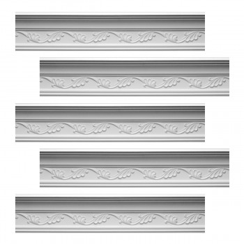 <PRE>Renovator's Supply Cornice White Urethane Whitehead Ornate Design 5 Pieces Totaling 480.625inch Length</PRE>zoom1