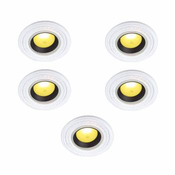 <PRE>White Urethane Spot Light Trim Recessed Durable Foam 6-1/2inch ID Pack of 5</PRE>zoom1