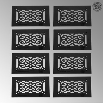 "<PRE>8 Heat Air Grille Cast Victorian 5.5inch x 10"" Overall </PRE>zoom2"
