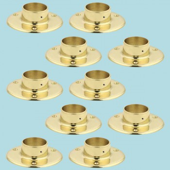 10 Solid Brass 5 Flange Fitting 2 OD Bar Foot Rail Bar Bracket Bar Hardware Mounting Brackets