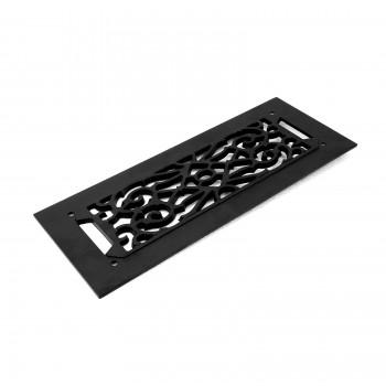 8 Heat Air Grille Cast Victorian 5.5 x 14 Overall Heat Register Floor Register Wall Registers