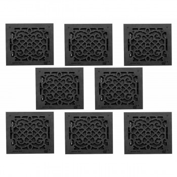 <PRE>8 Floor Heat Register Louver Vent Victorian Cast 12 x 12 Duct </PRE>