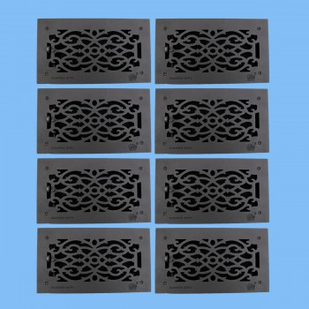 "<PRE>8 Floor Heat Register Louver Vent Victorian Cast 6inch x 12"" Duct </PRE>zoom2"