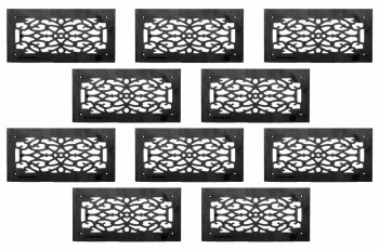 <PRE>10 Heat Air Grille Cast Victorian Overall 8 x 16 </PRE>