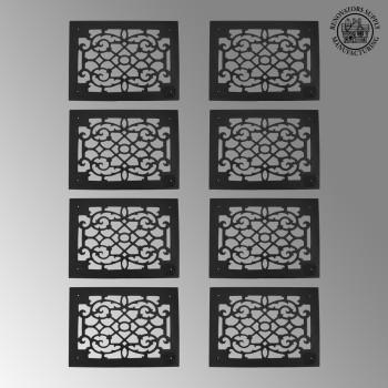 8 Heat Air Grille Cast Victorian Overall 10 x 14 Heat Register Floor Register Wall Registers