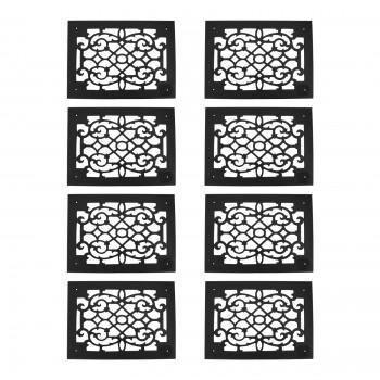 8 Grille Black Aluminum Air Grille Cast Aluminum w/ Logo Overall 10 x 14