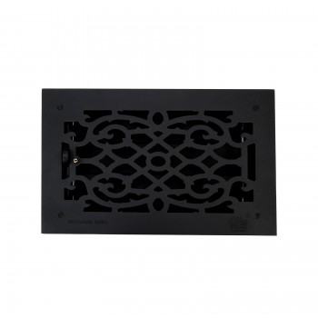 8 Floor Heat Register Louver Vent Cast 8 x 14 Duct roof floor wall air flow return metal cap heat conditioning grate baseboard exterior interior grill decor