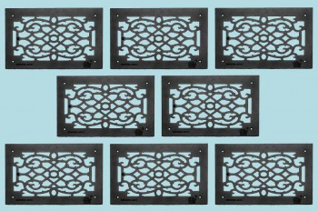 <PRE>8 Heat Air Grille Cast Victorian Overall 10&quot; x 16&quot; </PRE>