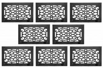 8 Grille Black Aluminum Air Grille Cast Aluminum w/ Logo Overall 10 x 16