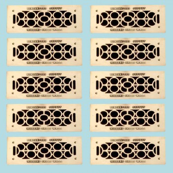 10 Floor Wall Heat Air Grill Vent Grate Solid Brass 4.75 x 11 Heat Register Floor Register Wall Registers