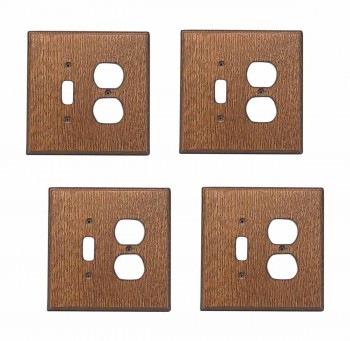 4 Switchplate Oak ToggleOutlet Switch Plate Wall Plates Switch Plates