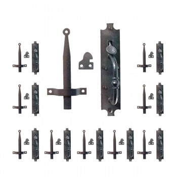 <PRE>10 Wrought Iron Door Latch Black &quot;Colonial Norfolk&quot; 8&quot; Tall  </PRE>