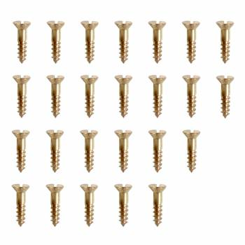 4 Brass Flat Head Wood Screws 12 Qty 25