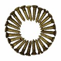 1/2in Oval Screws Brass - Hinges info & free shipping by Renovator's Supply.
