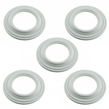 Spot Light Ring White Trim 5 ID x 9 OD Mini Medallion Set of 5 Light Medallion Light Medallions Lighting Medallion