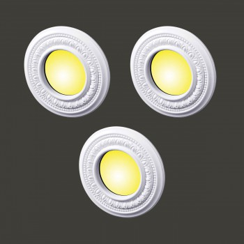 <PRE>3 Spot Light Ring White Trim 4inch ID x 8&quot; OD Mini Medallion 3 Pack </PRE>zoom2