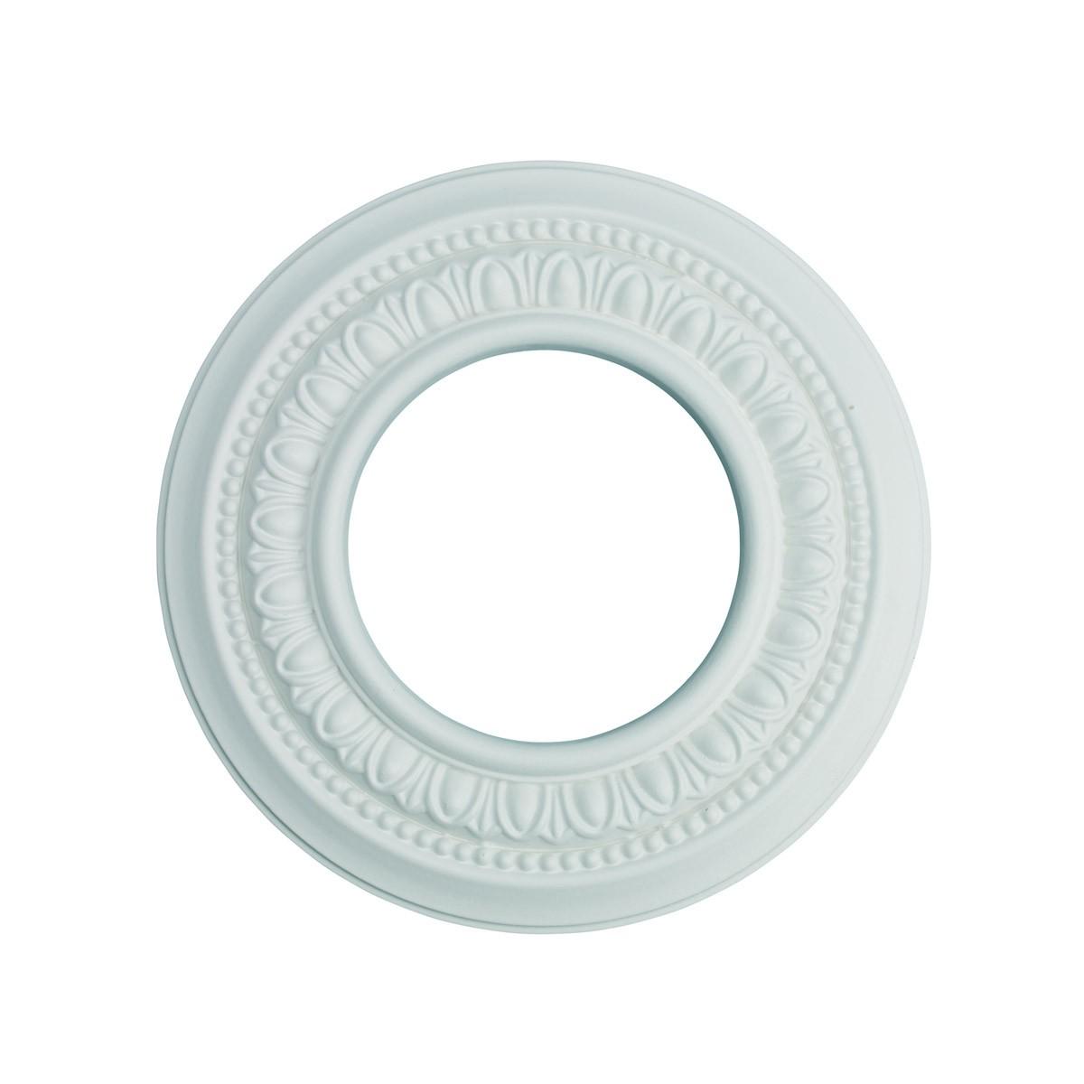 3 Spot Light Ring White Trim 4 ID x 8 OD Mini Medallion 3 Pack Light Medallion Light Medallions Lighting Medallion