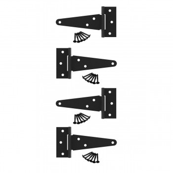 <PRE>4 T Strap Door Hinge Black RSF Wrought Iron 5&quot; Set of 4 </PRE>