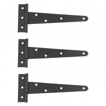 T Strap Door Hinge Black RSF Black Iron Light Duty 7 Pack of 3 T Tee Strap Door Cabinet Iron Flush Hinge T Tee Strap Gate Hinge Door Hinge